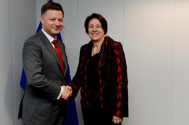 Visite d'Arnaud Feist, président d'ACI Europe et PDG de Brussels Airport, à la CE