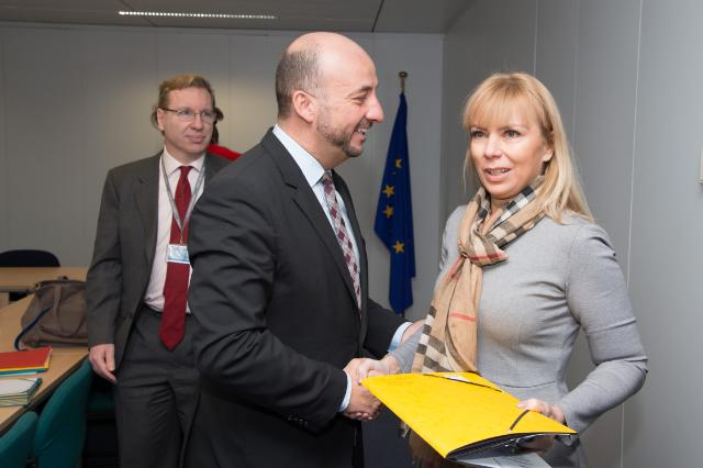 Visit of Etienne Schneider, Luxembourgish Deputy Prime Minister; Minister for Internal Security, Defence and Minister for Economy, to the EC