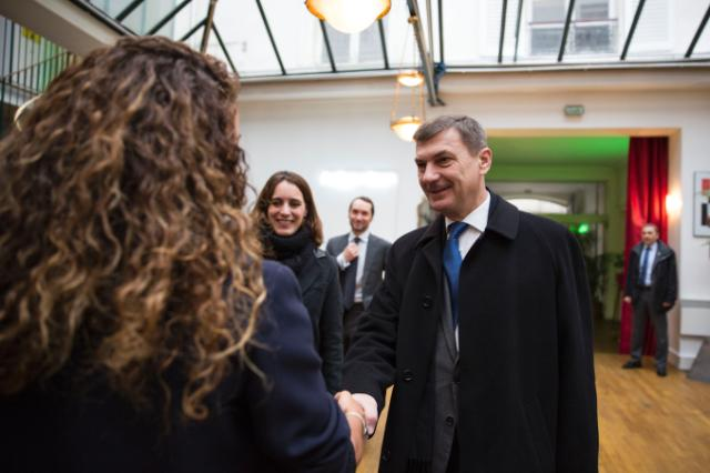 "Illustration of ""Visite d'Andrus Ansip, vice-président de la CE, en France"""