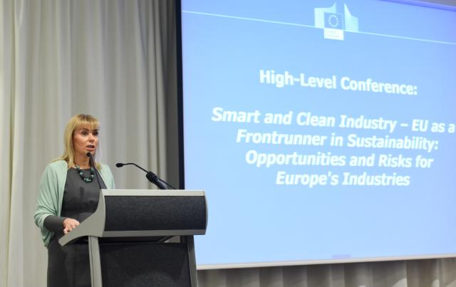 "Illustration of ""High-Level Conference on 'Smart and Clean Industry – EU as a Frontrunner in Sustainability: Risks or/and..."
