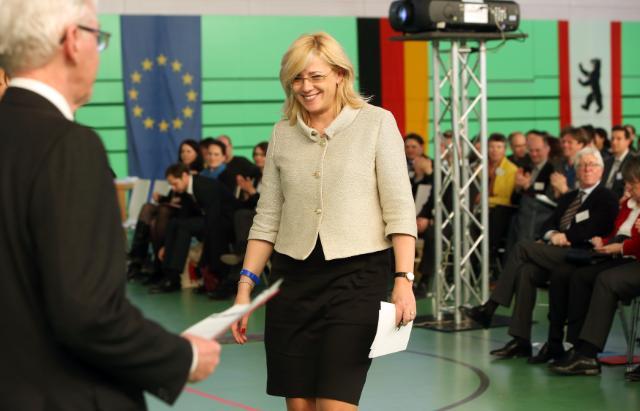 Visite de Corina Creţu, membre de la CE, en Allemagne