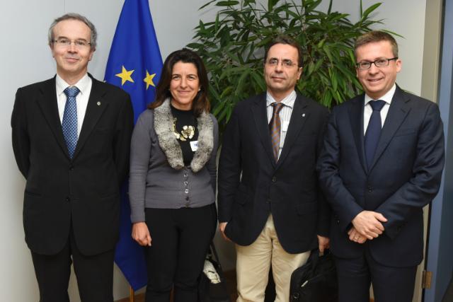 Visit of João Gabriel Silva, Rector of the University of Coimbra, to the EC