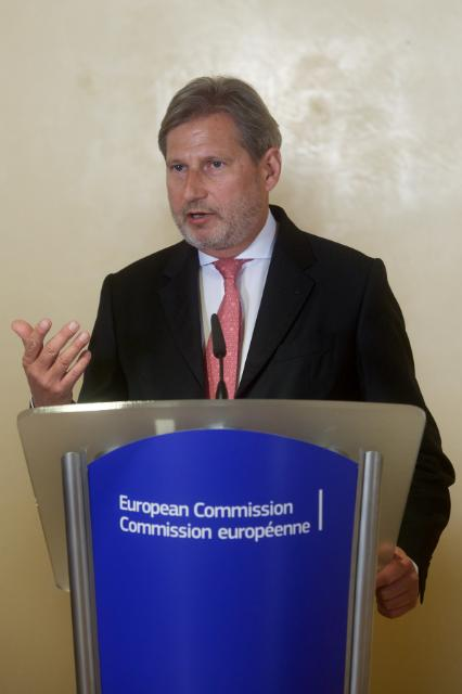 Participation of Johannes Hahn and Violeta Bulc, Members of the EC, at the conference on the core transport network, with the 6 Prime Ministers of the Western Balkan