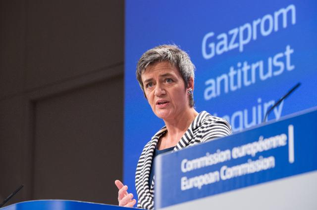 Press conference by Margrethe Vestager, Member of the EC, on the statement of Objections to Gazprom for alleged abuse of dominance on Central and Eastern European gas supply markets