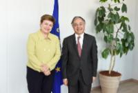 Visite de Vítor Caldeira, président de la Cour des comptes, à la CE