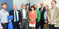 """Illustration of """"Visite de représentants des syndicats du Benelux à la CE"""""""