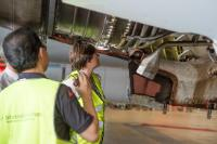 Demonstration of routine inspections on a plane at the Brussels-Zaventem airport and signature ceremony of a newly created air safely list for 22 third country operators