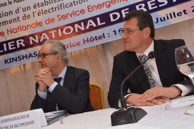 Visit of Maroš Šefčovič, Vice-President of the EC, to the Democratic Republic of the Congo
