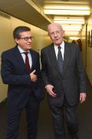 Visit of Filippo Maria Pandolfi, former Vice-President of the CEC, to the EC