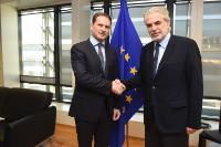 Visite de Pierre Krähenbühl, commissaire général de l'UNRWA, à la CE