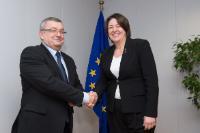 Visite d'Andrzej Adamczyk, ministre polonais des Infrastructures et des Travaux publics, à la CE