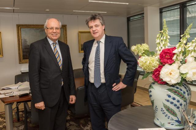 Visite d'Edward Scicluna, ministre maltais des Finances, à la CE