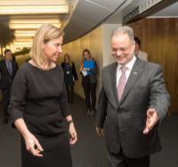 Visite d'Abdel Malak al-Mekhlafi, vice-Premier ministre yéménite et ministre des Affaires étrangères, à la CE
