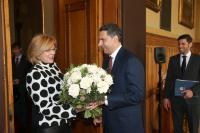 Visite de Corina Creţu, membre de la CE, en Hongrie