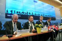 Participation de Dimitris Avramopoulos à la conférence