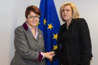Visit of Ingeborg Grässle, Member of the EP, to the EC