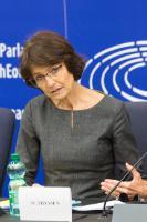 Conférence de presse de Marianne Thyssen, membre de la CE, sur le Paquet sur la Mobilité des travailleurs, à Strasbourg
