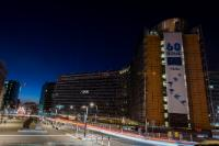 Earth Hour 2017: the facades of the Berlaymont building gone dark!