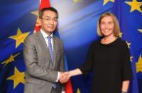 Visite de Tsend Munkh-Orgil, ministre mongol des Affaires étrangères, à la CE