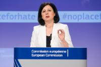 Press statement by Vĕra Jourová, Member of the EC, on the monitoring of the illegal online hate speech code of conduct