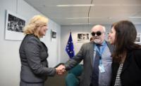 Visite de Yannis Vardakastanis, président du Forum européen des personnes handicapées (FEPH), à la CE.