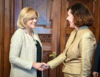 Visite de Corina Creţu, membre de la CE, en Lettonie