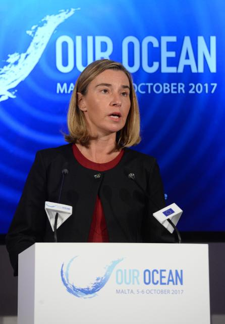 Participation of Federica Mogherini, Vice-President of the EC, Karmenu Vella and Neven Mimica, Members of the EC, at conference 'Our Ocean, an Ocean for Life' in Malta – Day 1