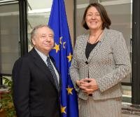Visit of Jean Todt, President of the FIA, and United Nations Secretary-General's Special Envoy for Road Safety to the EC