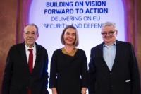 Participation of Federica Mogherini, Vice-President of the EC, at the 'Building on vision, forward to action: delivering on our Common EU defence' event