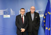 Visit of Matthias Kleiner, President of the Leibniz Association, to the EC
