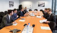 Visite de Nikola Dimitrov, ministre des Affaires étrangères de l'ancienne République yougoslave de Macédoine, de la CE