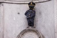 The Manneken Pis with a Customs Suit for International Customs Day