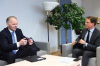 Visite de Jari Leppä, ministre finlandais de l'Agriculture et des Forêts, à la CE