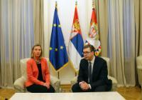 Visite de Federica Mogherini, vice-présidente de la CE, en Serbie