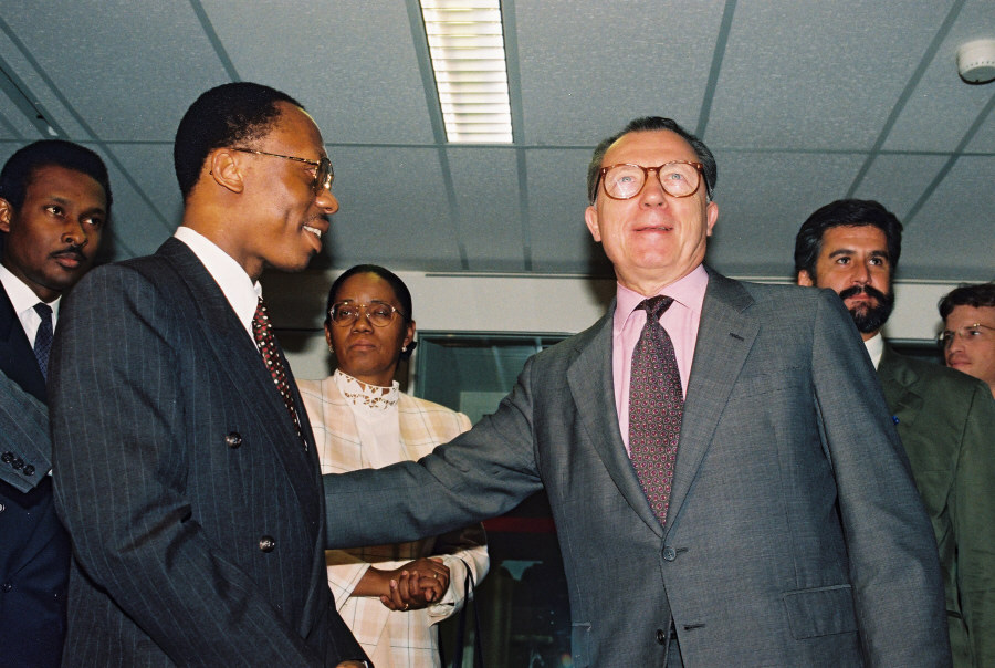 Visit of Jean-Bertrand Aristide, President of Haiti, to the CEC