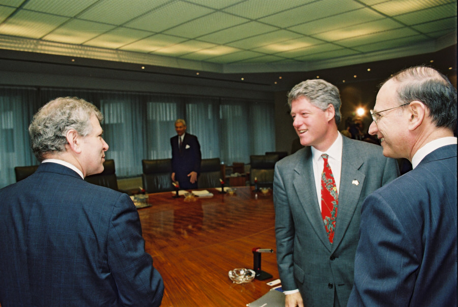 Visit of Bill Clinton, President of the United States, and Andréas Papandréou, Greek Prime Minister, to the EC