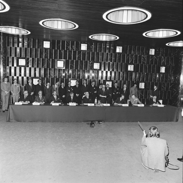 Signing of a non-proliferation Agreement between the EAEC and the IAEA