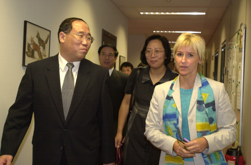 Visit of Xie Zhenhua, Chinese Minister for the Environment, to the EC