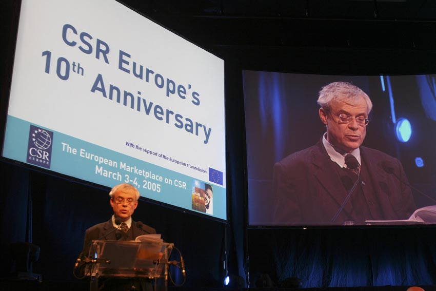 Vladimír Špidla, Member of the EC, at the Celebration of the 10th anniversary of CSR Europe