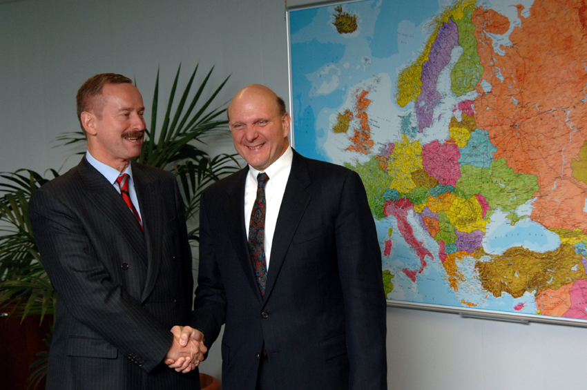 Visit of Steve Ballmer, CEO of Microsoft, to the EC