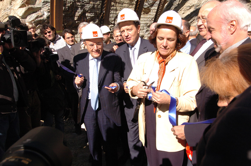 Visit of Jacques Barrot, Vice-President of the EC, in Savoy on the work site for the Lyon-Turin rail project