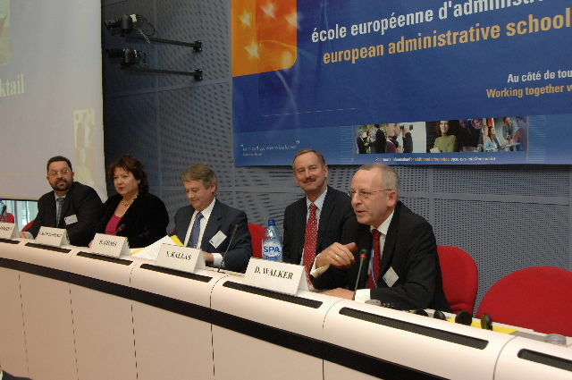 Inauguration of the European Administrative School (EAS) by Siim Kallas, Vice President of the EC