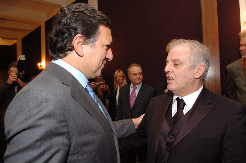 Meeting by José Manuel Barroso, President of the EC, with Daniel Barenboim