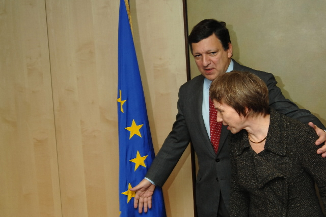 Visit by Laurence Parisot, President of the MEDEF, to the EC
