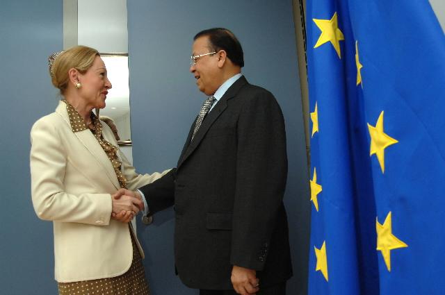 Visite de Morshed Khan, ministre bangladais des Affaires étrangères, à la CE
