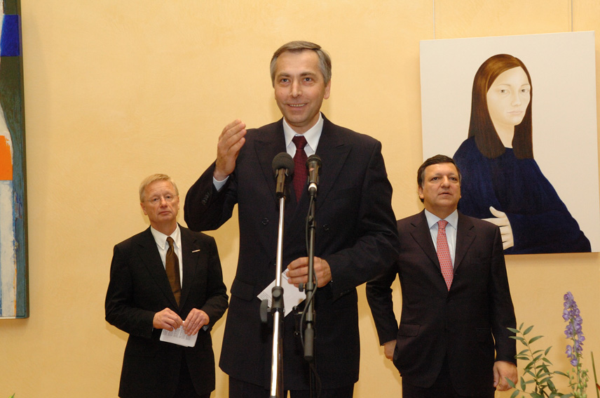 Inauguration of an exhibition of works of art from the 25 Member States of the UE at the EC