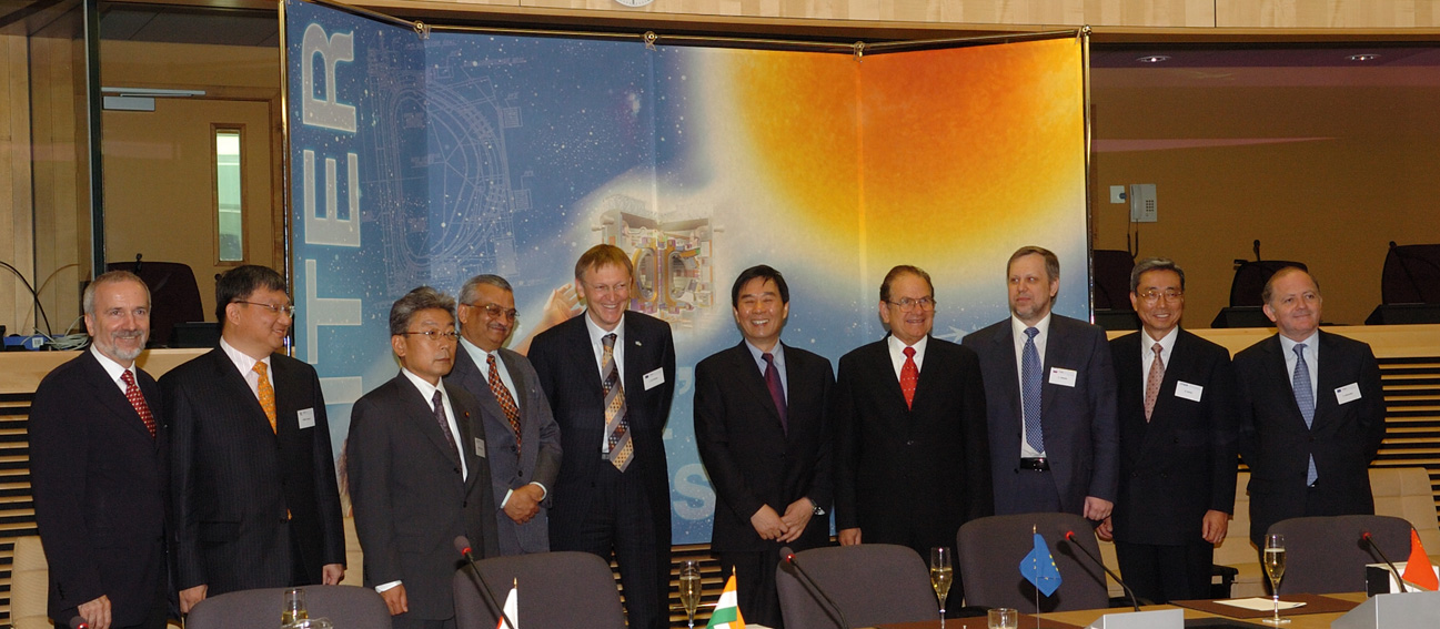 Initialling of the International Agreement for the ITER fusion energy project