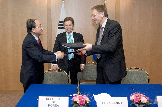 Signature EU/Korea of science and research agreements