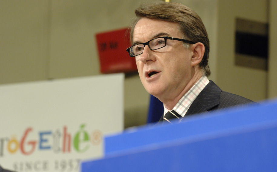 Press conference by Peter Mandelson, Member of the EC on a stronger partnership to improve access to foreign markets for EU business