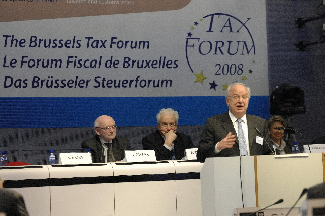 Participation of Günter Verheugen, László Kovács and Andrej Bajuk in the 2008 Brussels Tax Forum